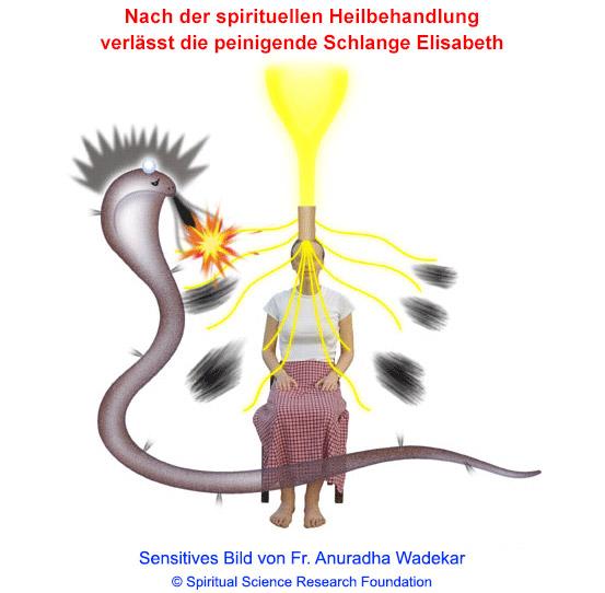 Edv-generiertes sensitives Bild - Schlange verlässt den Menschen nach der spirituellen Heilbehandlung