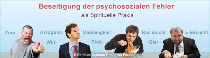 Beseitigung der psycho-sozialen Fehler - eine Spirituelle Praxis
