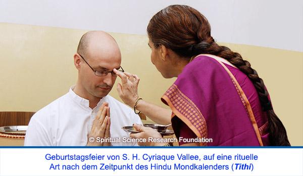 Der spirituelle Weg Seiner Heiligkeit Cyriaque Vallees - rituelle Geburtstagsfeier (Tithi)