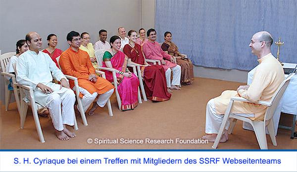 Der spirituelle Weg Seiner Heiligkeit Cyriaque Vallees - Satsang mit dem SSRF Webseitenteam