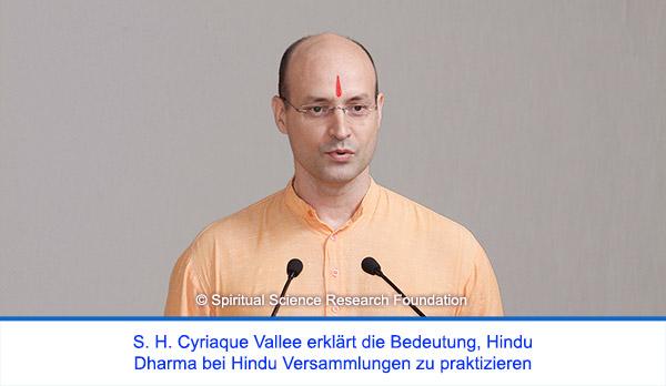 Der spirituelle Weg Seiner Heiligkeit Cyriaque Vallees - Erklärung der Bedeutung des Hindu Dharmas (Rechtschaffenheit)