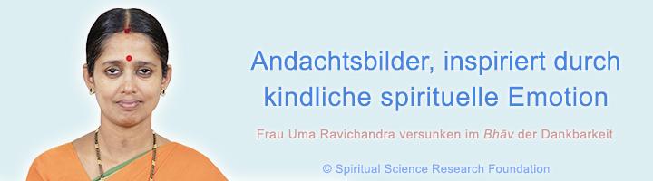 Andachtsbilder, inspiriert durch kindliche spirituelle Emotion - Bhav der Dankbarkeit