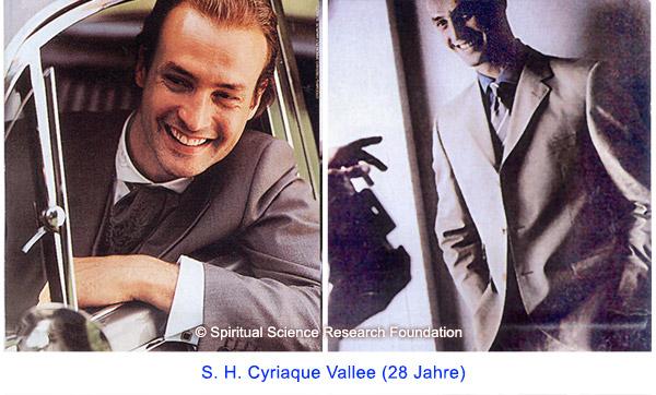 Der spirituelle Weg Seiner Heiligkeit Cyriaque Vallees (28 Jahre)
