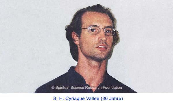 Der spirituelle Weg Seiner Heiligkeit Cyriaque Vallees (30 Jahre)