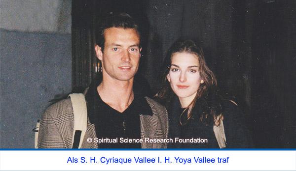 Der spirituelle Weg Seiner Heiligkeit Cyriaque Vallees - erste Begegnung mit Ihrer Heiligkeit Yoya Vallee