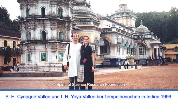 Der spirituelle Weg Seiner Heiligkeit Cyriaque Vallees - Tempelbesuche in Indien