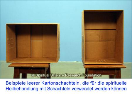 Beispiele von Schachteln für spirituelle Heilung