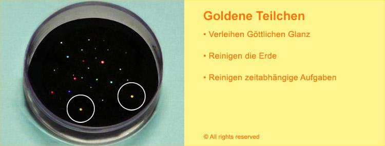 Goldene Göttliche Teilchen