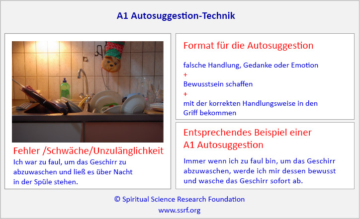 A1 Autosuggestion-Technik