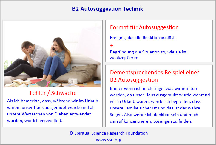 B2 Autosuggestion Technik