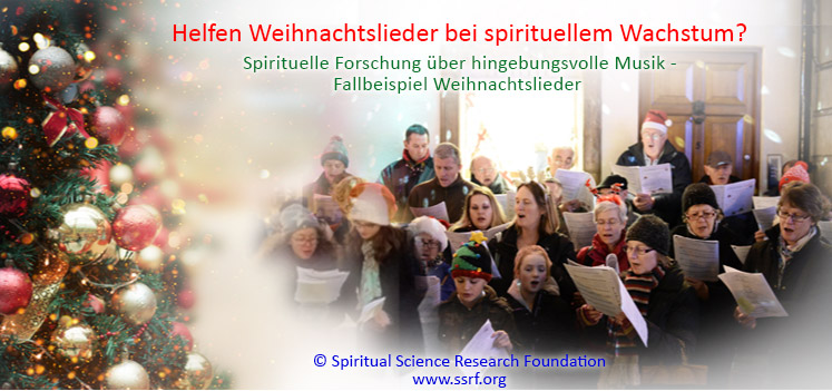 Helfen Weihnachtslieder bei spirituellem Wachstum?