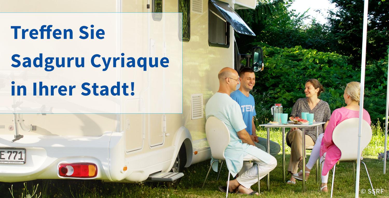 Treffen Sie Sadguru Cyriaque in Ihrer Stadt! - Die Wohnmobil-Tour der SSRF