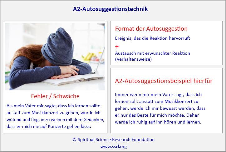A2-Autosuggestionstechnik