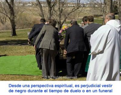 De luto en los funerales