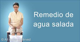 Remedio de agua salada