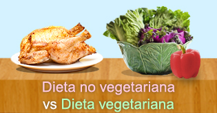 Dieta no vegetariana vs Dieta vegeariana