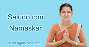 Saludo con Namaskar