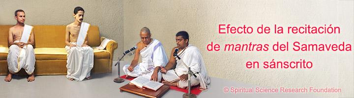 Investigación sobre el efecto de recitar mantras del Samaveda en sánscrito (cámara térmica flir)