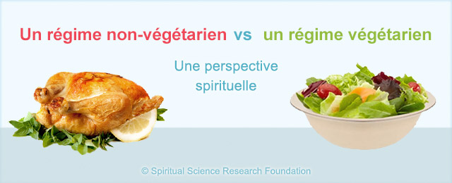 Un régime non-végétarien vs  un régime végétarien