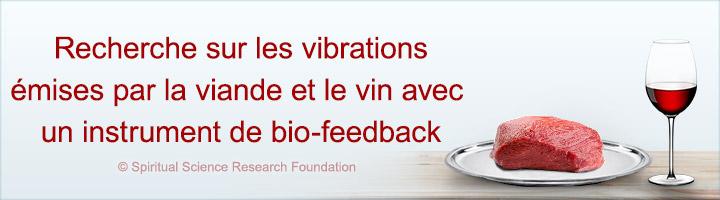 Recherche sur les vibrations émises par la viande et le vin avec un instrument de bio-feedback