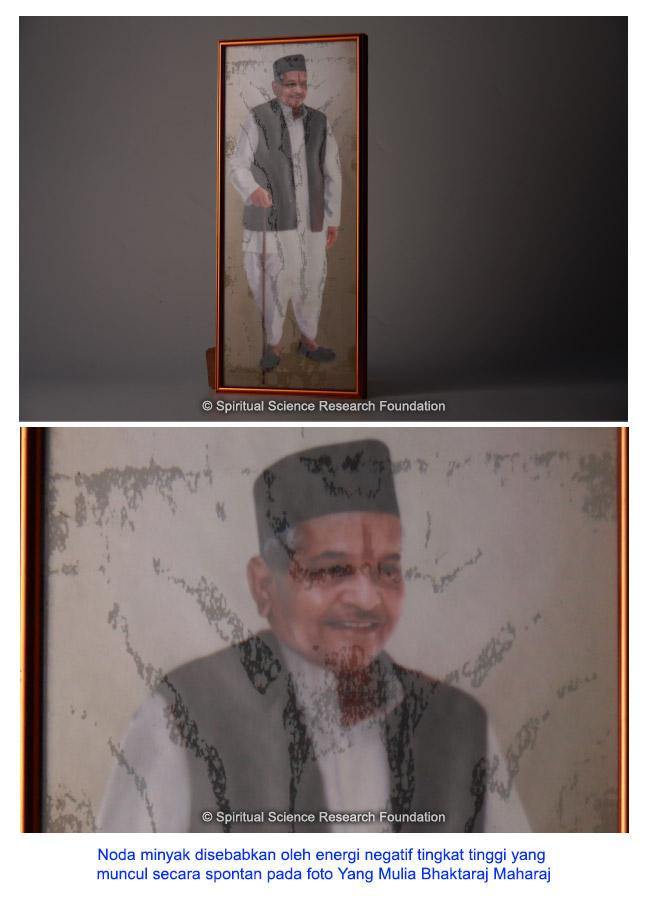 Kemunculan spontan noda minyak pada gambar Yang Mulia Bhaktaraj Maharaj