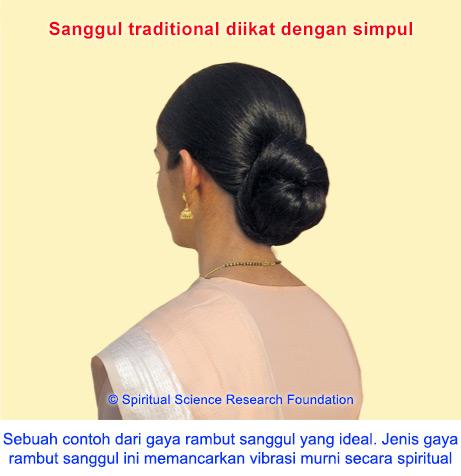 Gaya rambut sanggul dan manfaat spiritualnya