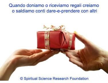 Donare regali e karma