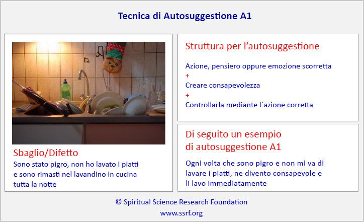 Tecnica di Autosuggestione A1