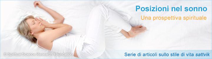 L'effetto delle varie posizioni assunte durante il sonno