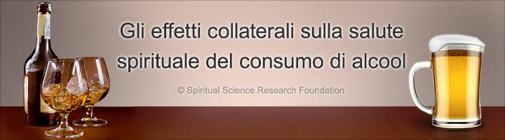 Gli effetti collaterali sulla salute spirituale del consumo di alcool