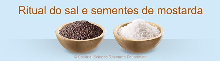 Ritual do sal e sementes de mostarda