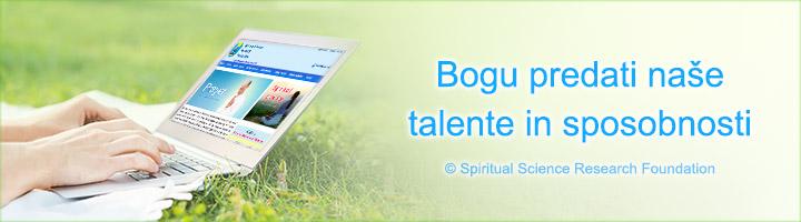 Bogu predati naše talente in sposobnosti