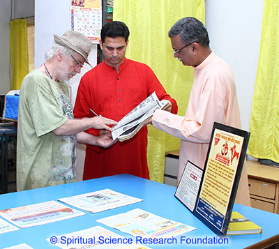 Visit of Dr. Ulrich Berk to SSRF Spiritual Research Center