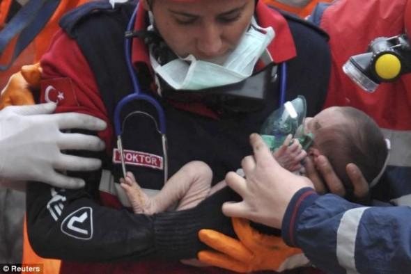 Turkey earthquakey survivor baby (Image by: Reuters)