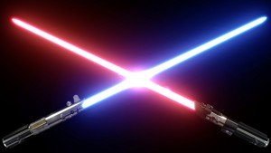 Star wars light side dark side lightsabers