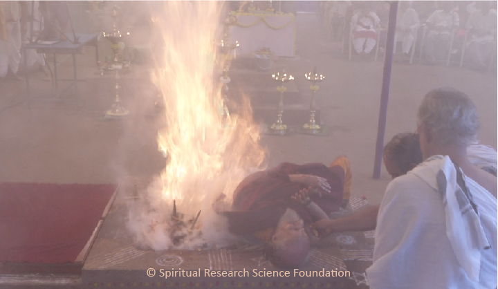Fire Yogi at the Spiritual Research Centre