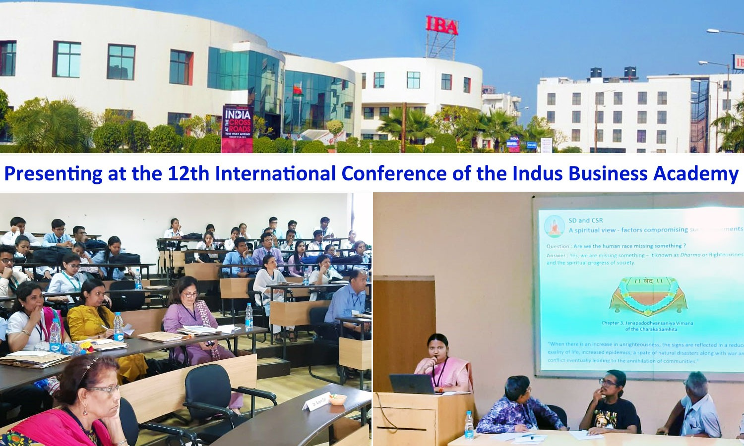 Presenting at the 12th International Conference of the Indus Business Academy