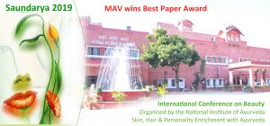 Saundarya 2019 - MAV wins Best Paper Award