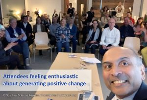 Attendees feeling enthusiastic about generating positive change
