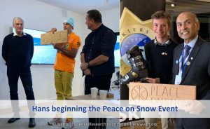 Hans beginning the Peace on Snow Event