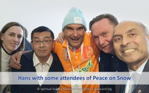 Hans with some attendees of Peace on Snow