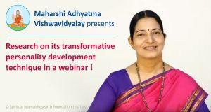 Webinar on Personality Development by Maharshi Adhyatma Vishwavidyalay