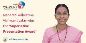Maharshi Adhyatma Vishwavidyalaya wins the 'Superlative Presentation Award'