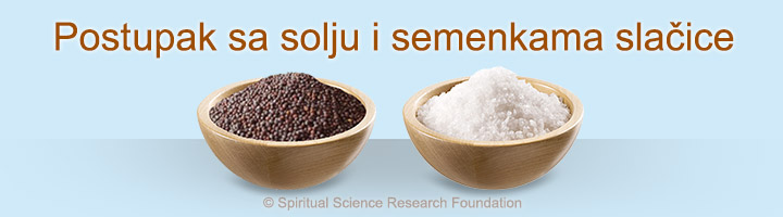 Postupak sa solju i semenkama slačice