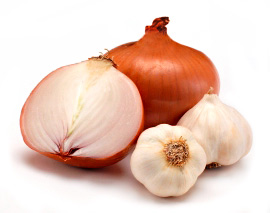 Onion and garlic-Vegetarian Diet