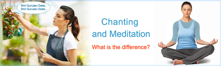 Chanting (Japa) and meditation - difference