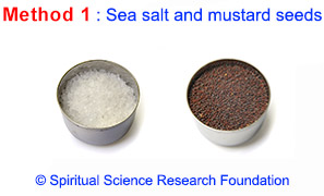 Sea salt and mustard seeds for evil eye removal