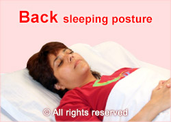 Sleeping posture - back