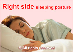 sleeping posture right side