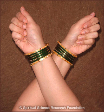 Crossing hands for the ritual of protection and removal of evil eye